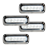 4 x 18W Underwater LED Boat Lights - Rectangle Design