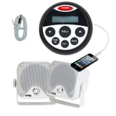 Marine Stereo Combo Kit MP3/USB/FM/AM/Ipod player + speakers + Antenna