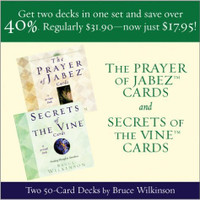 The Prayer Of Jabez Cards And Secrets Of The Vine Cards Combo Set