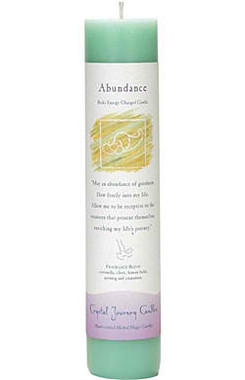 Abundance - Crystal Journey Herbal Magic Pillar Candle