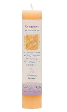 Compassion - Crystal Journey Herbal Magic Pillar Candle