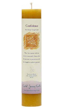 Confidence - Crystal Journey Herbal Magic Pillar Candle