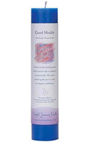 Good Health - Crystal Journey Herbal Magic Pillar Candle