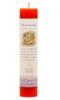 Housewarming - Crystal Journey Herbal Magic Pillar Candle