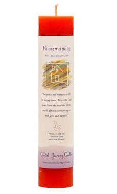 Housewarming - Crystal Journey Herbal Magic Pillar Candle