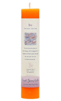Joy - Crystal Journey Herbal Magic Pillar Candle