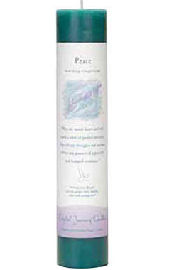 Peace - Crystal Journey Herbal Magic Pillar Candle