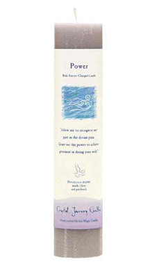 Power - Crystal Journey Herbal Magic Pillar Candle