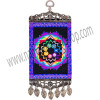 Our vibrant mini-carpet wall charm has been designed with a colorful chakra wheel, which represent the energy centers of the body. Both ends of the carpet have been finished with an intricate antiqued metal frame. The bottom frame also features matching antique metal teardrop tassels. SYMBOL The 7 rainbow colors are associated to the chakras and the endocrine system. Violet, crown of the head, pituitary gland is our connection with universal energies. Indigo, middle of forehead, pineal glands represents forgiveness & compassion. Blue, throat, Thyroid gland is our physical & spiritual communication. Green, heart, thymus gland is for love and sense of responsibility. Yellow, solar plexus, adrenal gland represents power and ego. Orange, lower abdomen, pancreas gland is associated with emotion and sexuality. Red, base of the spine, gonads glands represents grounding and survival - See more at: http://www.kheopsinternational.com/p/Wall-Hanging-Carpet-Chakras/63379.html#sthash.SExdkcUF.dpuf
