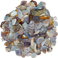 Tumbled Stone Blue Chalcedony