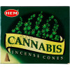 Hem Incense Cones in Display Box 10 cones Cannabis