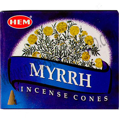 Hem Incense Cones in Display Box 10 cones Myrrh