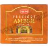 Hem Incense Cones in Display Box 10 cones Precious Amber