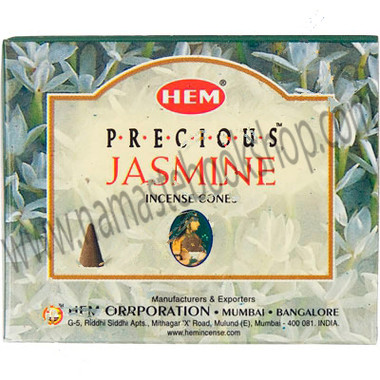 Hem Incense Cones in Display Box 10 cones Precious Jasmine