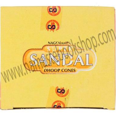 Incense Cones in Display Box 10 cones Sandal