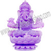 Frosted Acrylic Feng Shui Figurines Sitting Ganesha Purple (each)