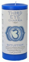 Third Eye Chakra Candle 3 inch x 6 inch Pillar - For Intuition