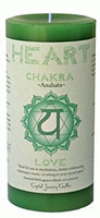 "Heart Chakra Candle 3"" x 6"" Pillar - For Love"