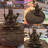 Round Shiva Incense Burner Holder