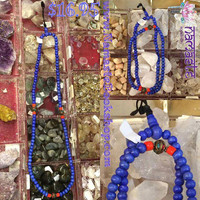 Blue Mala with beads