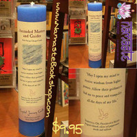 REIKI CHARGED CANDLE WITH ESSENTIAL OILS - ASCENDED MASTERS AND GUIDES