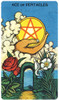 Morgan-Greer Tarot Deck Ace of Pentacles