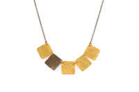 Delilah Necklace Gold/Gun Metal