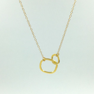 Mother's day necklace in gold plated over sterling silver