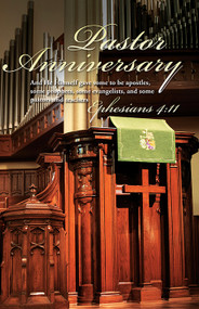 Pastor Anniversary Bulletin 3071 (sold in units of 100)