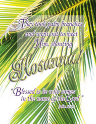 Legal Palm Sunday bulletin 9890L (sold in units of 100) ONLY 10 units left!