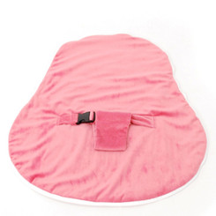 Newborn Velvet Waterproof Pink Cover with Safety Harness