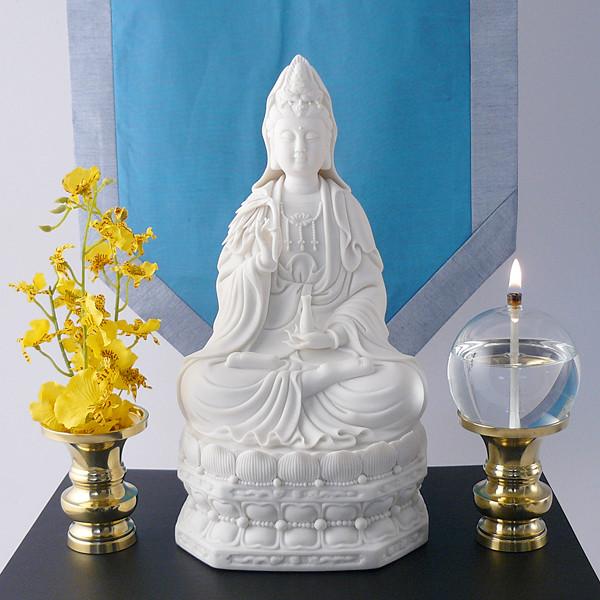 Brass Shrine Vases on altar