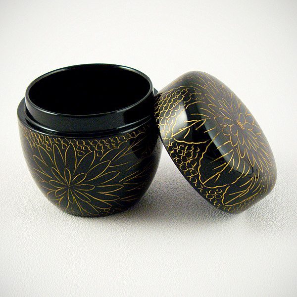 Lacquered natsume - open