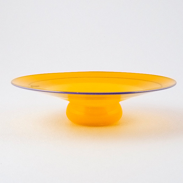 Tangerine Enso Vase - side view