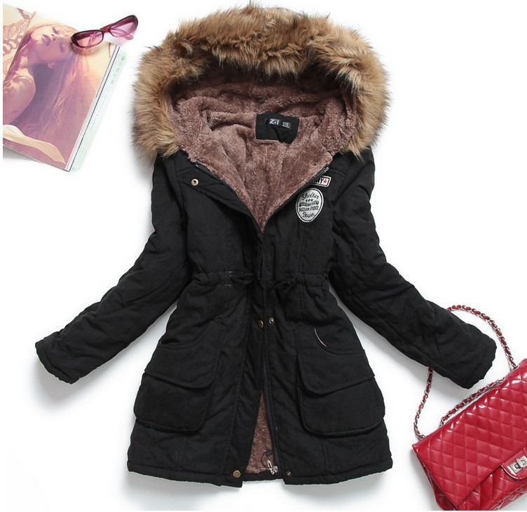 Womens Luxurious Fur Lined Parka Coat - J&Y