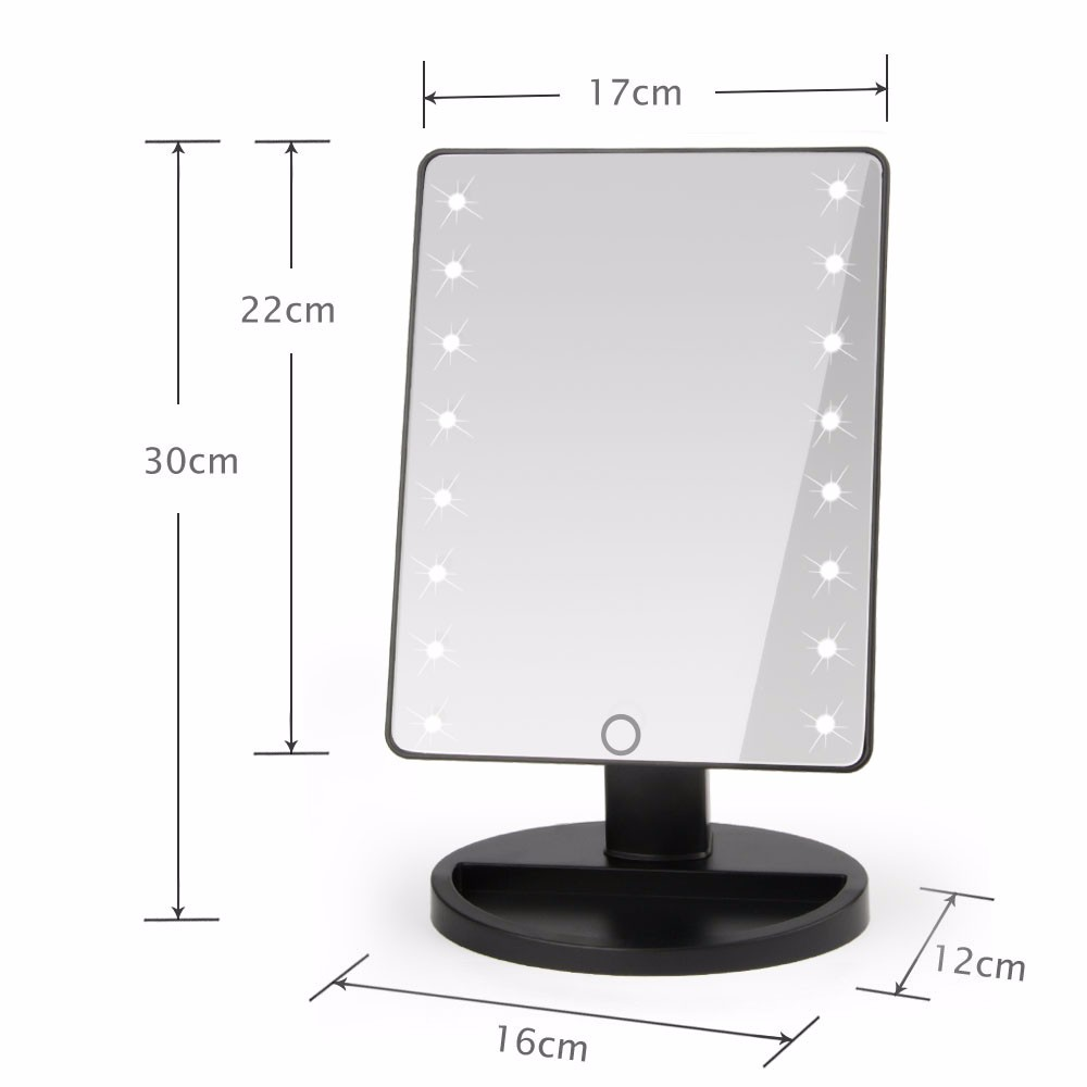 Lighted Vanity Mirror On Stand : Makeup Mirrors Vanity Illuminated Stand Comestic Mirror Lighted 16 LED Lights - J&Y