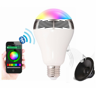 Smart led light bulb with app control and bluetooth for Led light bulb with built in bluetooth speaker