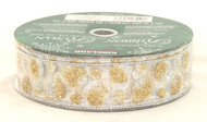 Shop now for Silver Gold Sparkle Polka Dot Wired Ribbon