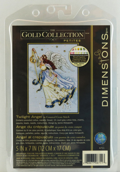 Shop here now for Twilight Angel Gold Collection Petite Dimensions Cross Stitch Kit