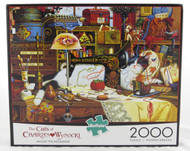 Shop for Maggie the Messmaker 2000 piece Cat jigsaw puzzle Charles Wysocki