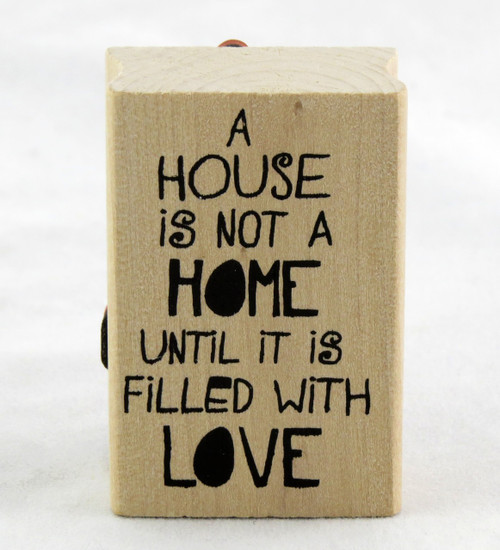 Shop now for Wood Mounted Rubber Stamp Home House Warming Moving Party