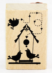 Shop here now for Wood Mounted Rubber Craft Stamp Little Birdhouse