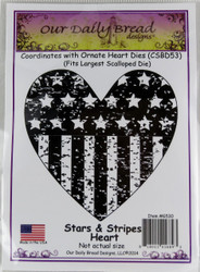 Shop  now for Stars and Stripes Heart Patriotic Cling Stamp Our Daily Bread