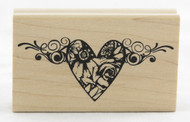 Shop now for Suzanne Carillo Love In Bloom Wood Mounted Rubber Stamp Valentines Heart