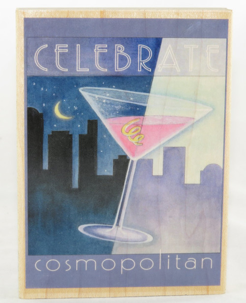 Shop now for Janlynn Wood Mounted Craft Stamp Cosmopolitan City Life