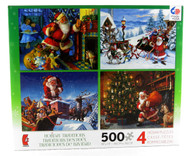 Shop now for Christmas Holiday Santa Claus 500 Piece Jigsaw Puzzle Collection