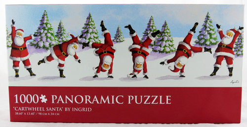 Shop now for Cartwheeling Santa Claus Christmas 1000 Piece Panoramic Jigsaw Puzzle