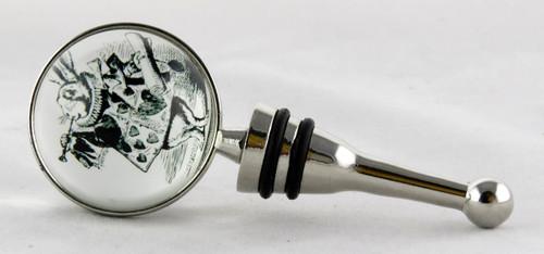 Shop now for White Rabbit Alice In Wonderland Glass Bottle Stopper