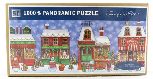 Shop with us now for Jolly Town Christmas Folk Art 1000 Piece Panoramic Jigsaw Puzzle Jennifer Van Pelt