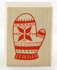 Shop now for this Winter Mitten Wood Mounted Rubber Stamp